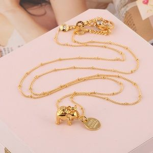 Henri Bendel elephant necklace